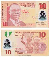 Nigeria 10 Naira 2014 Polymer P-39e Banknotes UNC