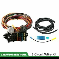 8 Circuit Universal Wire Harness Muscle Car Hot Rod Street Rod Rat Rod Wire
