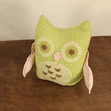Pottery Barn Kids Owl Book End Baby Toddler Decor Pastel Weighted Retired