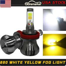 2× White/Yellow LED Light 880/881 899 COB Bulb Dual Color Kit For Fog Light Car