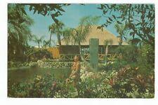 Postcard Tiki Gardens Indian Rocks Beach Florida PM 1967     (A32)