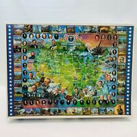 1994 White Mountain Puzzles United States Presidents 1000 Piece Puzzle Complete!
