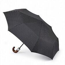 Fulton Chelsea - 2 City a Strisce ombrello pieghevole automatico manico di legno nero
