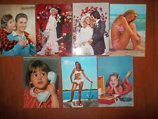 Lotto 7 cartolina SAEMEC CECAMI ROTALCOLOR bambini bikini nozze viaggiate e non