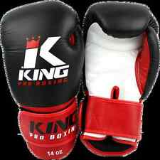 KING Boxhandschuhe KPB/BG 1. 10-16oz. 100% Leder. Muay Thai, Kickboxen.Training