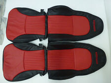 1997-2004 C5 Corvette Genuine Leather Black and Red Seat Covers for  ZO6