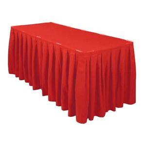 3 Meter Red Polyester Table Skirting Skirt Table Cloths Wedding Events Party