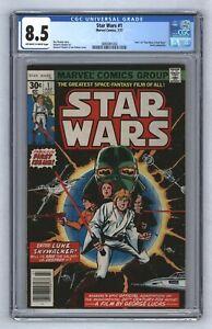 Star Wars #1 1st Print 1977 1st Ever Luke Skywalker Darth Vader Comic CGC 8.5