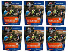 6 - Mountain House Freeze Dried Food Pouches - Chili Mac with Beef - Fresh