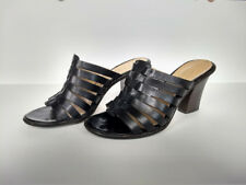 Joan and David Joan & David Sexy Strap Sandals Slides Heels Shoes 7.5 M Leather