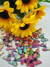 1PCS Wooden Button Butterfly Handmade Scrapbooking Randomly Accessories A070