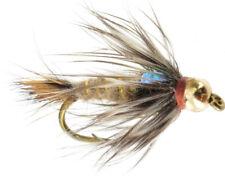 6 flies Zonker Yellow Fly Fishing Flies Bass, Bream, Trout, Salmon, Redfish