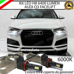 COPPIA LAMPADE H8 LED CANBUS 6400 LUMEN FENDINEBBIA AUDI Q3 FACELIFT