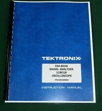 Tektronix 11801b Csa 803a Programmer Manual Comb Bound Amp Protective Covers