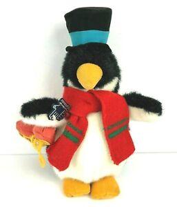 Applause Wallace Berrie Vintage Penguin Skater Hat Plush Stuffed Toy Rare Korea