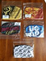 Set of 5 New Universal Studios 30th Ann, Harry Potter Face Masks Adult Medium
