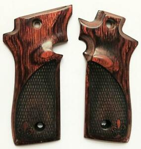 Colt 380 Grips Colt 380 Government Grips, Mustang Plus II Rosewood Checkered