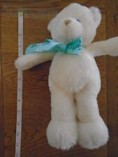 Soft & fluffy cream Harrods bear with green bow. 0709219  (1/3)