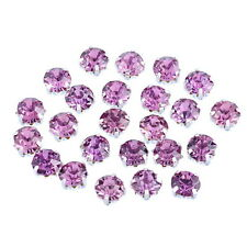 250PCs Mauve New Glass Single Claw Rhinestone 4mm x4mm