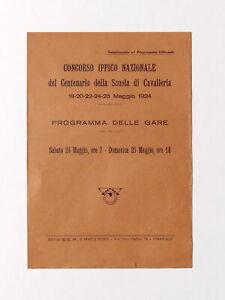 Concorso Ippico Naz. Centenario Scuola Cavalleria - Programma - Pinerolo - 1924