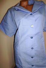 Best Medical Women Collard S/S Nurse Dress W Bottom Pockets Lt Blue Sz 3X to 4X