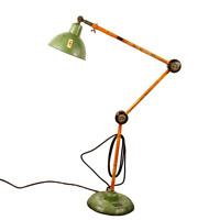 Arbeits Steh Leuchte Shabby Industrial Design Boden Lampe Permo Vintage 50-60er