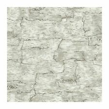 York Wallcoverings LM7987 Lake Forest Lodge Birch Bark Wallpaper, Off White
