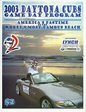 2003 Daytona Cubs Official Program MILB MLB Stars Chicago Cubs