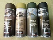 Lot 4 bombes peinture kaki marron beige noir casque allemand para ww2 us camo