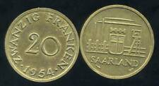 SARRE 20 franken  1954  ( bis )