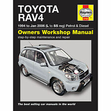 HAYNES TOYOTA RAV4 1994-JAN 2006 L-55 REGISTRATION PETROL AND DIESEL