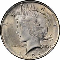 1924 Peace Silver Dollar Brilliant Uncirculated - BU