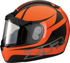 Z1R PHANTOM SNOWMOBILE SNOW HELMET FULL FACE ANTI-FOG SHIELD ORANGE MEDIUM M