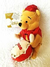 """BNWT RARE DISNEY STORE WINNIE THE POOH RED SATIN CHINESE NEW YEAR COLLECTABLE 8"""""""