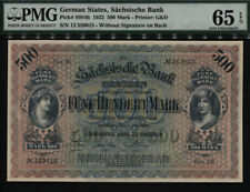 TT PK S954b 1922 GERMAN STATES 500 MARK PMG 65 EPQ GEM ONLY TWO AT THIS LEVEL