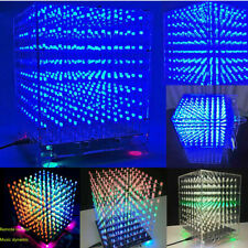 3D LED Light Cube DIY Kits Music Spectrum 8S Electronic RGB With Template 8x8x8
