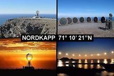 SOUVENIR FRIDGE MAGNET of NORDKAPP NORTH CAPE NORWAY