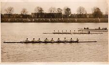 Original Press Photo Rowing Oxford Boat Race crew practice v Queen's 20.2.1933