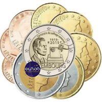 2 euros commémorative LUXEMBOURG 2019 Droit de Vote + série 1 cent à 2 euros UNC
