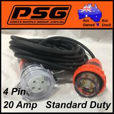 20 Amp 10m 4 pin Standard Extension Lead, 3 Phase 415V 20A Plug Socket 3Ph FP