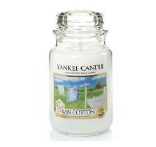 Yankee Candle Candela profumata Clean Cotton Giara Grande durata 150 ore