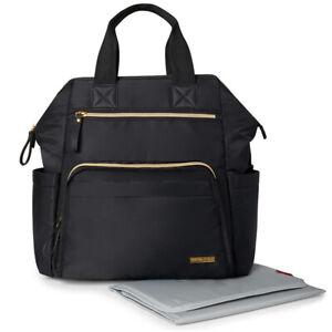 Skip Hop Wide Open Backpack Nappy Bag Black