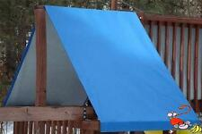 CUSTOM SIZE PLAYSET CANOPY/TARP ~BLUE, up to 6FT LG - Outdoor Playset/Swingset