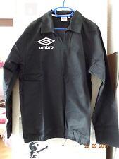 Umbro Trainingsjacke schwarz bedruckt beidseits Größe L Baumwolle