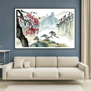 Nature Landscape Scenery Painting Print Premium Poster High Quality choose sizes