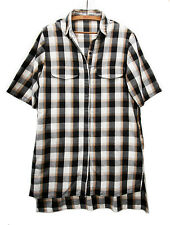 Camisa maxi Zara a cuadros size S Maxi checked shirt in white, black and brown.