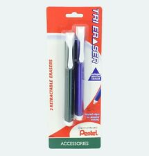 Pentel Tri Eraser 2-Packs - Retractable 3 Sided Erasers  (6 Cards = 12 Erasers)