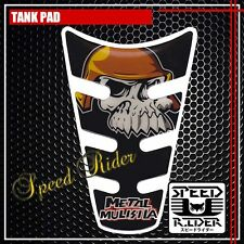TANK PAD PROTECTOR STICKER DECAL GEL GUARD TP007 BLACK METAL MULISHA SKULL
