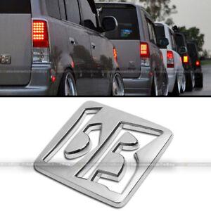 For 03 -07 Scion xB JDM bB Stick On Rear Trunk Chrome Finish Logo Badge Emblem