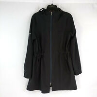 Womens Large Modrobes Coat Jacket Mid Long Black Stretch Comfortable Fall Spring